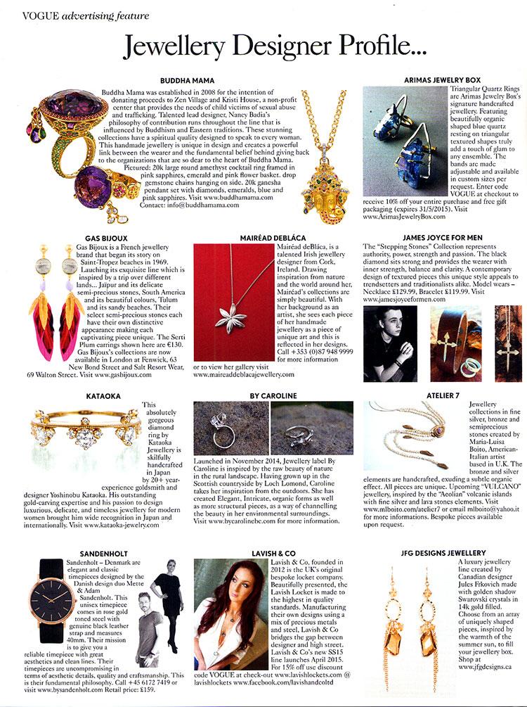 Buddha Mama Jewelry - British Vogue May 2015