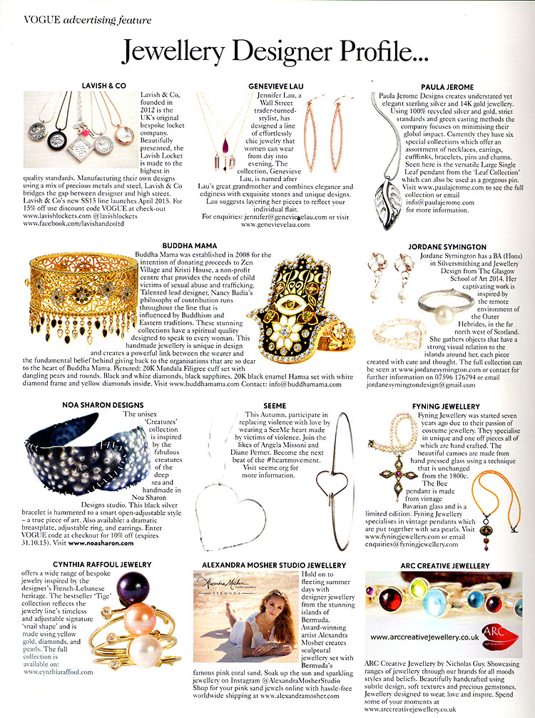Buddha Mama Jewelry - Vogue September 2015